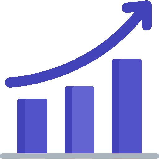 grafico con parametri in ascesa